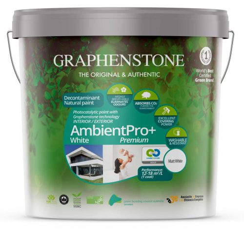 Air purifying Paint – Graphenstone Ambient Pro White Photocatalytic