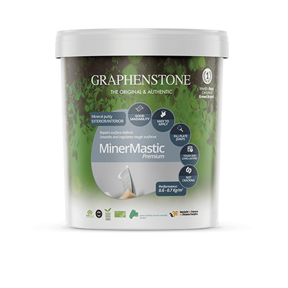 Natural Wall Filler - Graphenstone MinerMastic Mineral Defects Filler